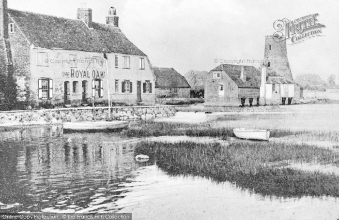 Photo of Langstone, The Royal Oak And Mill c.1900