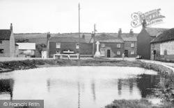 The Memorial And Pond c.1955, Langtoft