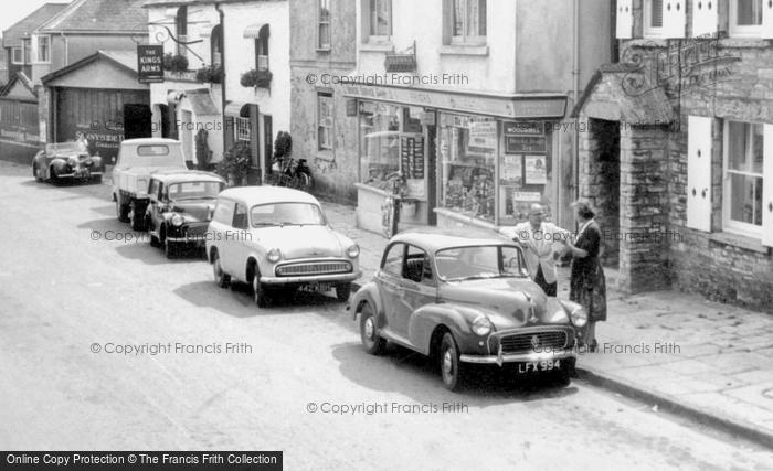 Photo of Langton Matravers, Commer Cob And Morris Minor Cars c.1965