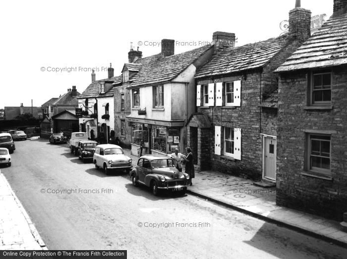 Photo of Langton Matravers, Kings Arms & High Street c.1965