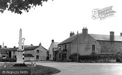 Langwathby, Fish Hotel And War Memorial 1950