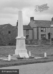 War Memorial c.1950, Langwathby