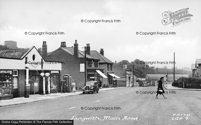 Photo of Langwith, Main Street c.1950