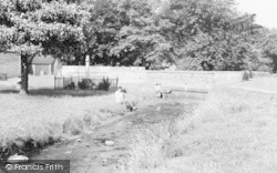 Paddling By The Green c.1955, Langwith
