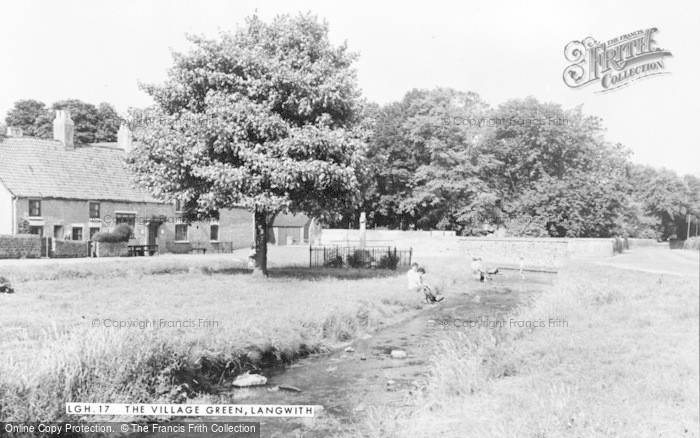 Photo of Langwith, The Village Green c.1955