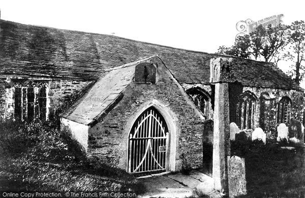 Photo of Lanteglos By Fowey, Church Porch And Cross 1893