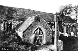 Lanteglos-By-Fowey, Church Porch And Cross 1893