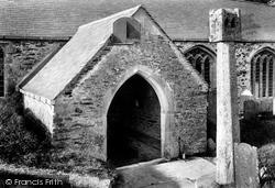 Lanteglos-By-Fowey,  Church Porch And Cross 1908