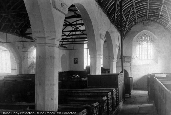 Photo of Lanteglos By Fowey, The Church Interior 1901