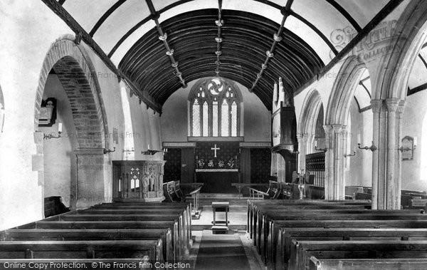 Lanteglos, Church interior 1906