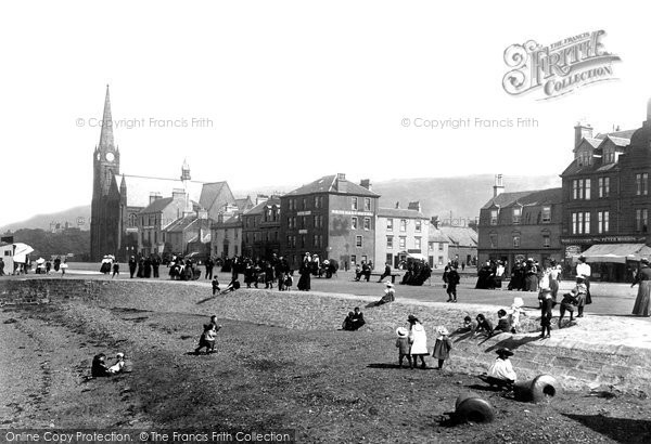 Photo of Largs, The Church And Seafront 1897