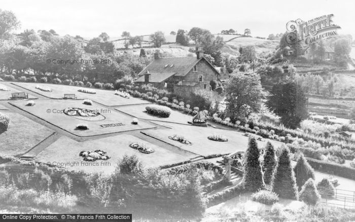 Photo of Larkhall, The Flower Gardens, Millheugh Park c.1950