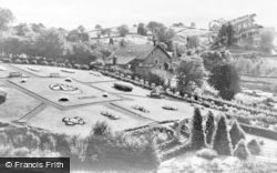 Larkhall, The Flower Gardens, Millheugh Park c.1950