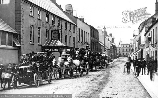 Photo of Larne, Excursion Parties, King's Arms Hotel c.1905