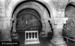 Lastingham, The Church Crypt c.1965