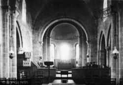 Lastingham, The Church Interior c.1950