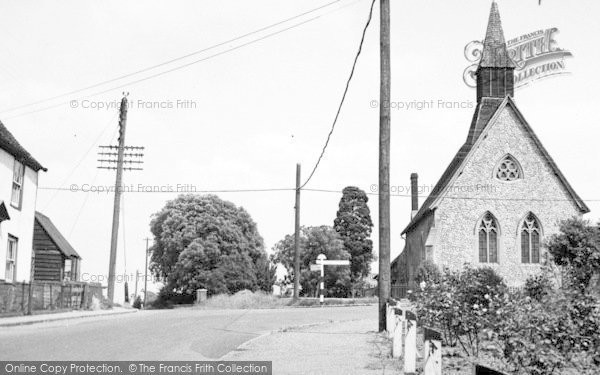 Photo of Latchingdon, The Church Corner c.1955