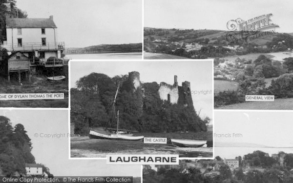Photo of Laugharne, Composite c.1960