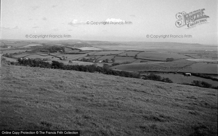 Photo of Laugharne, General View From Llansadurnen 1954