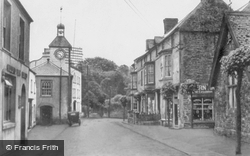 Laugharne, Market Street And Clock c.1955