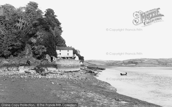 Photo of Laugharne, the Boathouse c1955