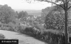 Laugharne, Village And Estuary From Fern Hill 1954