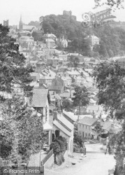 Launceston, Castle And Town From St Stephen's Hill 1893