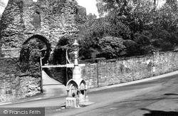 Launceston, Castle Entrance c.1955