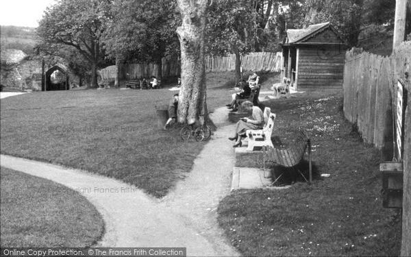 Photo of Launceston, Castle Gardens Showing Doomsdale Arch c.1955