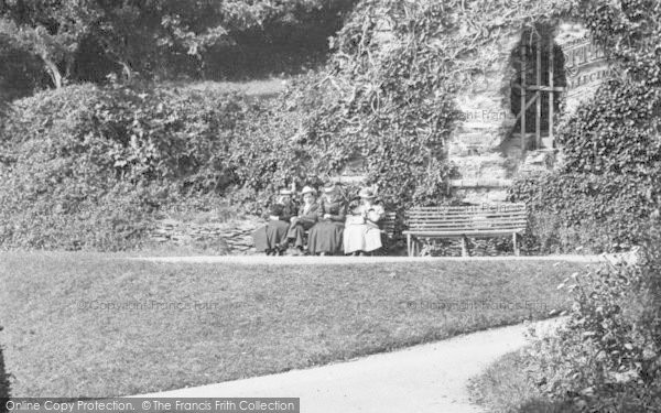 Photo of Launceston, Castle, Ladies On The Bench 1909