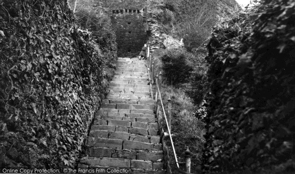 Photo of Launceston, Castle Steps c.1950