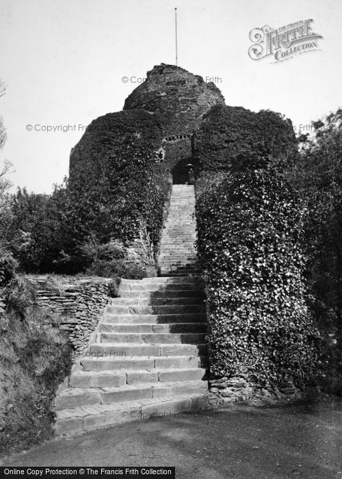 Photo of Launceston, Castle With Steps 1890