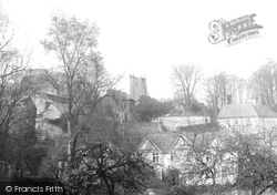 Launceston, Church And Castle And Dockacre House 1906
