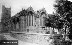 Launceston, Church Of St Mary Magdalene From South-East 1893