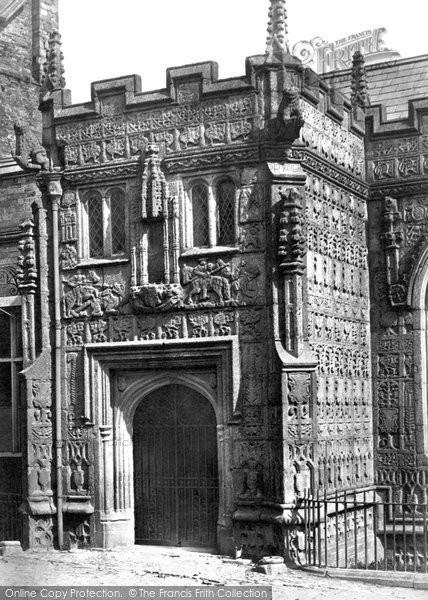 Photo of Launceston, Church Porch c.1875