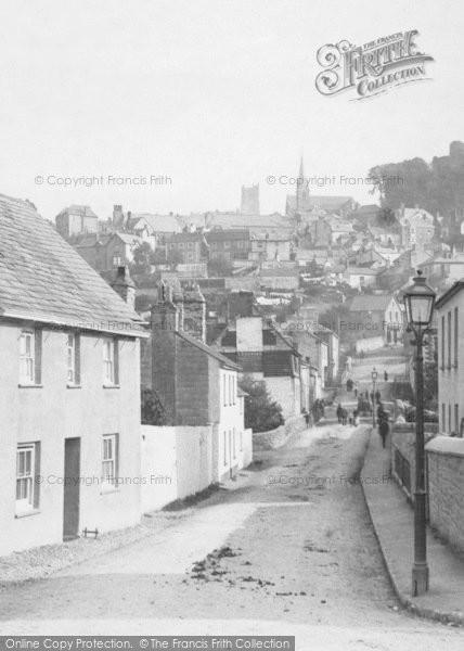 Photo of Launceston, Churches From Newport Square 1890