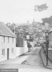 Launceston, Churches From Newport Square 1890