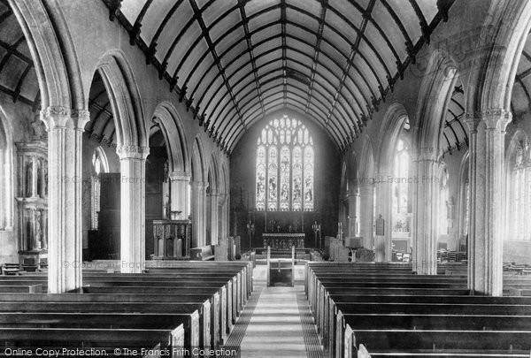Photo of Launceston, Parish Church, Interior 1899
