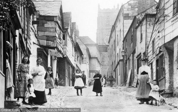 Photo of Launceston, People In Fore Street 1893