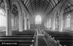 Launceston, St Mary Magdalene Church Interior 1890