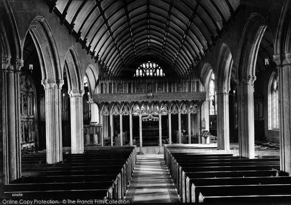 Photo of Launceston, St Mary Magdalene Church Interior 1911