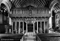 Launceston, St Mary Magdalene Church Interior 1911