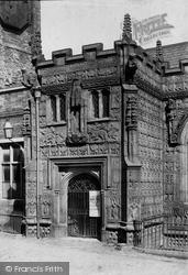 Launceston, St Mary Magdalene Church Porch 1890
