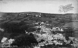 Launceston, St Stephen's From The Castle c.1875
