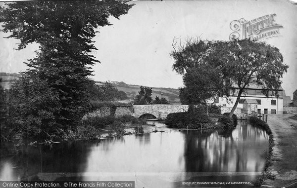 Photo of Launceston, St Thomas's Bridge c.1875