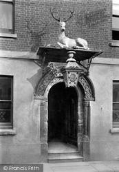 Launceston, White Hart Hotel Door 1890