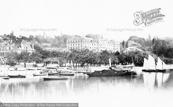 Photo of Lausanne, Ouchy From The Pier c.1874