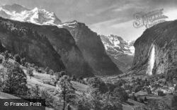 Jungfrau And Stubbach c.1930, Lauterbrunnen