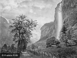 The Staubbach c.1860, Lauterbrunnen