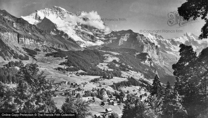 Photo of Lauterbrunnen, Wengen, Jungfrau And Breithorn c.1930